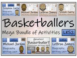 LKS2 Literacy - Great Basketball Players Mega Bundle of Activities
