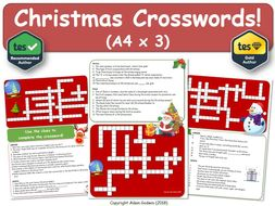 Christmas Crossword.Christmas Crossword Puzzles X3 Christmas Xmas Crossword