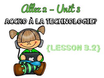 Allez 2 - Unit 3.2 - Accro à la technologie? - Phrasal and modal verbs  - KS3 French