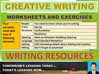 CREATIVE WRITING: WORKSHEETS