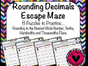 Rounding Escape Mazes for Decimal Values