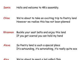 Poetry Class Assembly Script