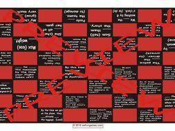 Future Perfect Tense Checker Board Game