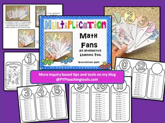 Back to School Multiplication Fans for Practice and Review