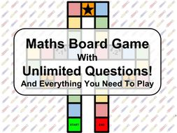 Maths Board Game with Unlimited Questions