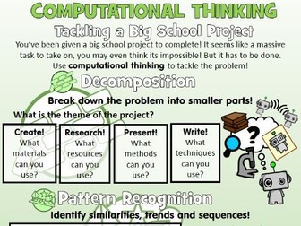 Use Computational Thinking to Tackle School Projects