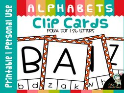 Uppercase-Lowercase Letter Matching Clip Cards
