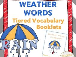 Weather Words Tiered Vocabulary Booklets