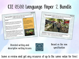 Cambridge IGCSE 0500 English Language Paper 2 Bundle