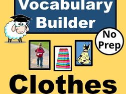 esl vocabulary builder for clothes english vocabulary lesson with