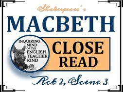 Shakespeare's Macbeth: Act 2, Scene 3 Close Read