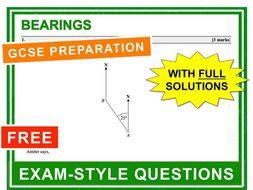 GCSE 9-1 Exam Question Practice (Bearings)