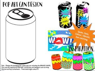 POP ART can design cover lesson / homework sheet