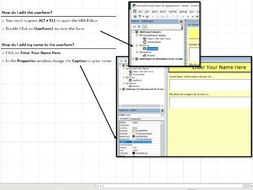 Creating a VBA User Form