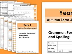 Autumn Year 1 GPS Assessment
