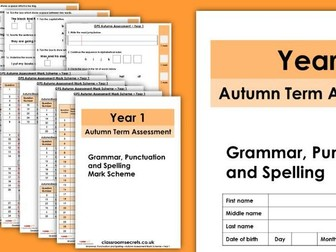 Autumn Year 1 GPS Assessment