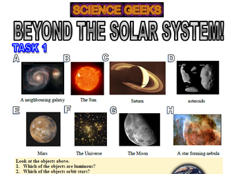 Beyond The Solar System, light years and the Big Bang!