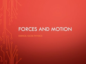 Physics Edexcel IGCSE PowerPoints - Forces and motion