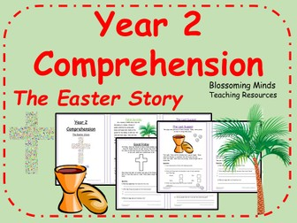 Year 2 Easter Story Reading Comprehension (Holy Week)