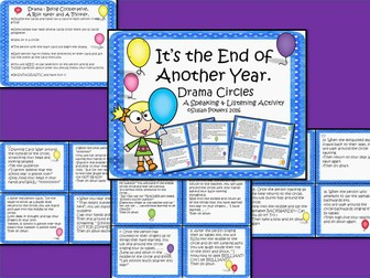 End of the Year Drama Circle Activity