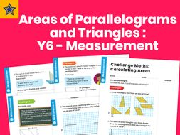 Calculating Areas of Parallelograms and Triangles  Y6 – Measurement – Maths Challenge