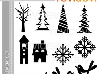Christmas clipart silhouette