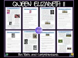 Queen Elizabeth II Texts and Comprehensions