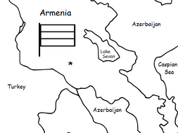 ARMENIA - printable handout with map and flag