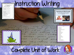 Instruction Writing - English Complete Unit of Work