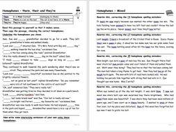 Homophones - worksheets by bas0410 - Teaching Resources - Tes