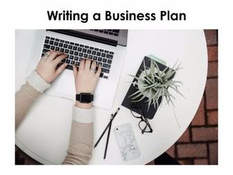 Starter For Ten Enterprise Project. Lesson Ten - Writing a Business Plan