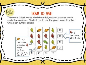Autumn / Fall Shape Logic Puzzles
