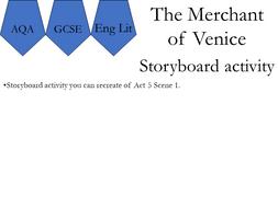 AQA. Merchant of Venice. Storyboard activity