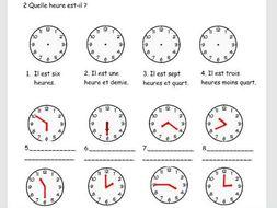 Time: Quelle heure est-il?