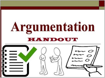 ARGUMENTATIVE WRITING : SCAFFOLDING NOTES