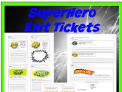 SuperHero Exit Tickets
