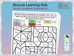 paint by numbers maths fun puzzles by bouncelearningkids teaching resources. Black Bedroom Furniture Sets. Home Design Ideas