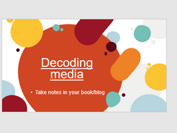BTEC Creative Media Unit 1: Decoding media - looking at Halls Reception theory