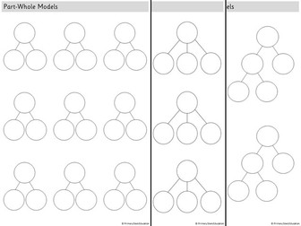 White Rose - Part whole model blank template EDITABLE (3 sheets inc. extended part-wholes) - FREE