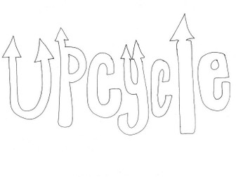 Upcycle Colouring Page