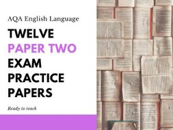 English Language Paper Two Exam Practice Papers