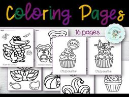 Mardi Gras Coloring Pages | 16 Printable