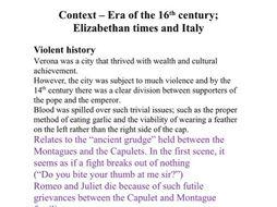 GCSE (9-1) Romeo & Juliet FULL Revision notes