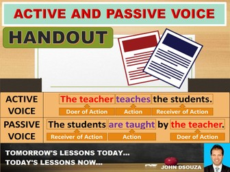 ACTIVE AND PASSIVE VOICE: SCAFFOLDING NOTES