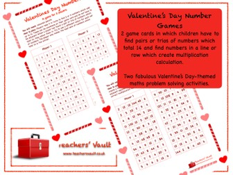 Valentine's Day Calculations Maths Games