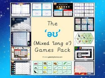 The mixed 'əʊ' (long o) games pack