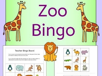 Zoo animals bingo