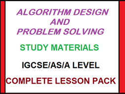 Algorithm Design and Problem Solving Complete Lesson Pack