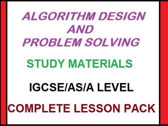 Algorithm Design and Problem Solving Complete Lesson Pack