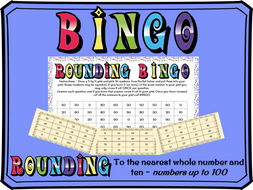 Rounding to the nearest whole number and 10 BINGO (numbers to 100)